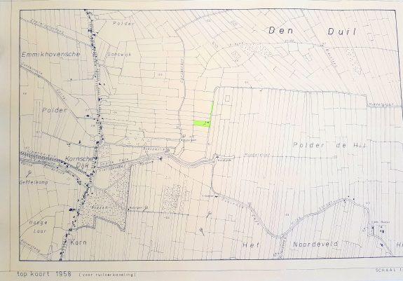 Kadastrale kaart 1958